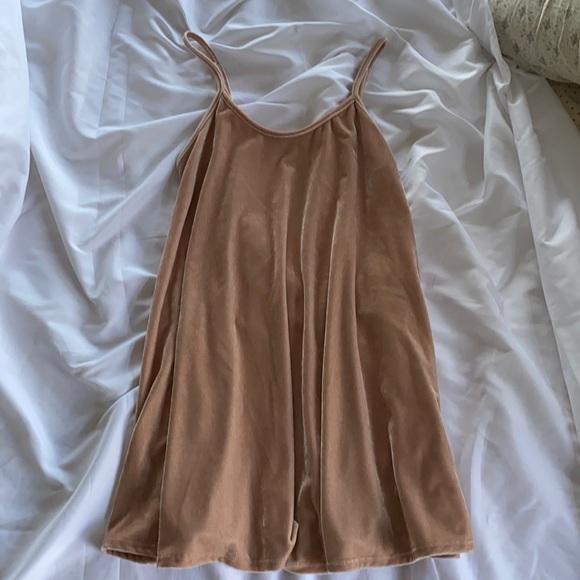 Blush Velvet Mini Dress